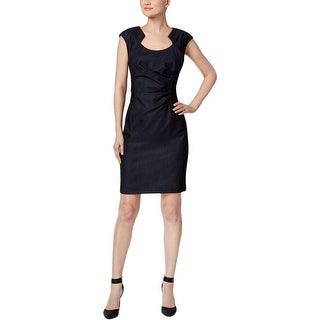 Calvin Klein Womens Wear to Work Dress Ruched Pintuck (4 options available)