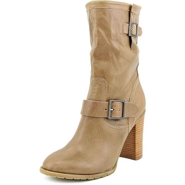 Adam Tucker Womens Kaplin4 Leather Closed Toe Mid-Calf Fashion Boots