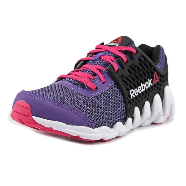 reebok zigtech big n fast ex infant round toe synthetic purple running shoe