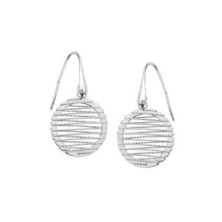 Wire Drop Earrings in Sterling SIlver - White