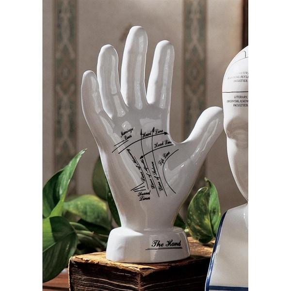 Design Toscano Porcelain Palmistry Hand