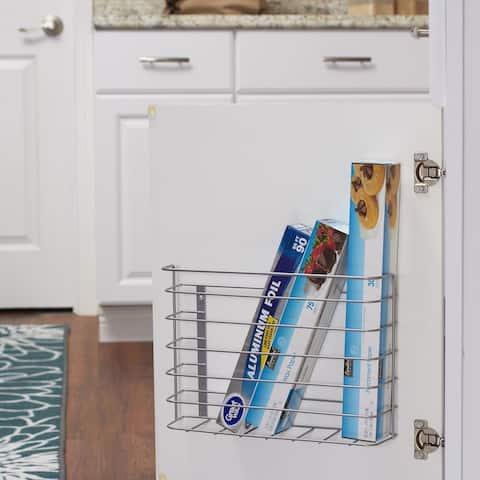 Cabinet Door Cutting Board and Kitchen Wrap Organizer