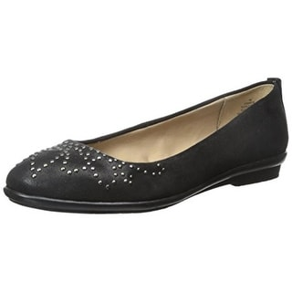 Easy Spirit Womens Karcie Ballet Flats Faux Suede Studded