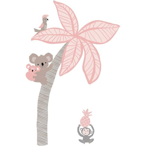 Lambs & Ivy Calypso Pink/Taupe Koala and Palm Tree Nursery Wall Decals/Appliques