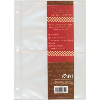 "MBI Recipe 2-Up Refill Pages 10/Pkg-(20) 5""X7"" Pockets"