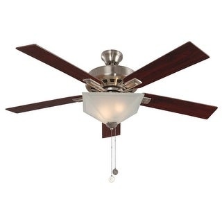 "Design House 154401 Hann 52"" 4 Blade Indoor Ceiling Fan with Light Kit"