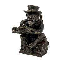 Hand Painted Steampunk Scholar Chimpanzee Fantasy Statue