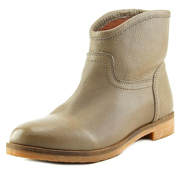 Lucky Brand Garmann Women  Round Toe Leather Gray Ankle Boot