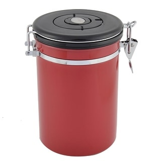 Stainless Steel Preserve Seal Bottle Tobacco Coffee Storage Canister Pot Red
