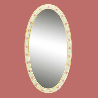 Victorian Vanity Mirror Oval Poly Flower Frame