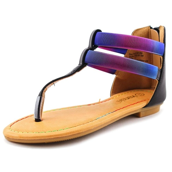 Kensie Girl T- Strap Sandal Youth Open Toe Synthetic Thong Sandal