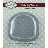"""Creative Expressions Domed Treat Cups 6/Pkg-Clear 2.75"""" Diameter"""