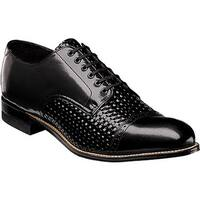 Stacy Adams Men's Madison Cap Toe Oxford 00070 Black Woven Print Kidskin Leather