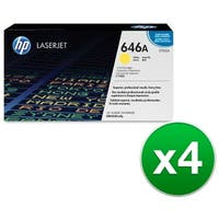HP 646A Yellow Original LaserJet Toner Cartridge (CF032A)(4-Pack)