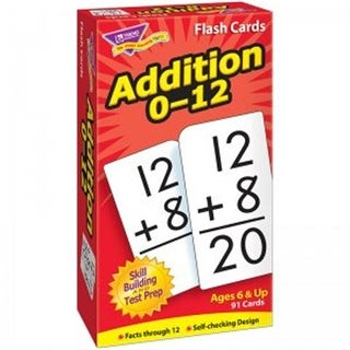 Flash Cards - Addition 0-12, 91 Per Pack - Pack of 3