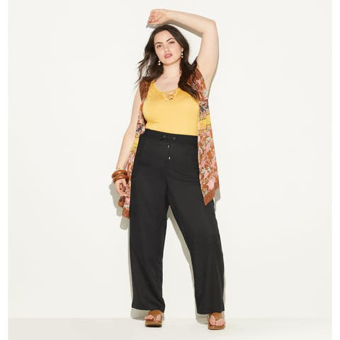 LORALETTE Women's Cargo Jogger Pant with Embroidered Pockets