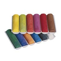 Prang Non-Toxic Sidewalk Chalk, 4 L x 1 W Inches, Assorted Colors, Pack of 12