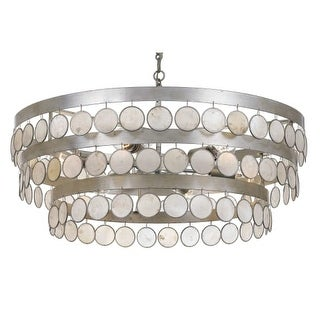 """Crystorama Lighting Group 6008 Coco Single Light 28"""" Wide Integrated LED Chandel"""
