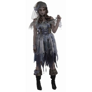 Zombie Female Pirate Dress Costume w/Headpiece Adult Size Standard