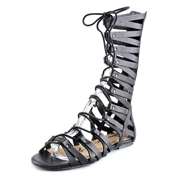 American Rag Maya Women Open Toe Synthetic Black Gladiator Sandal