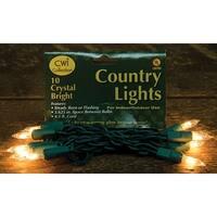 Light Set, Green Cord, 10ct