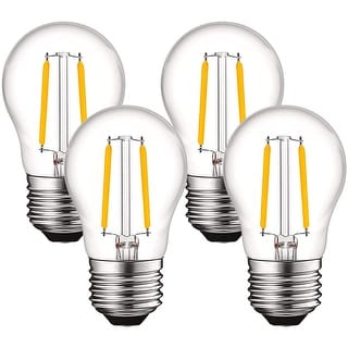 Link to Luxrite 4W Vintage A15 LED Bulb Dimmable, 400 Lumens, 2700K Warm White,40W Equivalent, Clear Glass, E26 Base (4 Pack) Similar Items in Light Bulbs