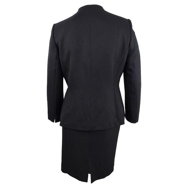 Tahari ASL Women/'s Star-Neck Skirt Suit