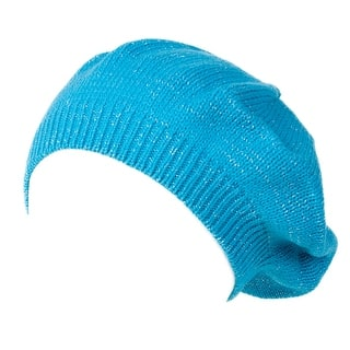 Womens Cable Knit Winter Glitter Sheen Turquoise Beret|https://ak1.ostkcdn.com/images/products/is/images/direct/c9489b4fa317bb1aecaf9ab7e261226840e11946/Womens-Cable-Knit-Winter-Glitter-Sheen-Turquoise-Beret.jpg?impolicy=medium