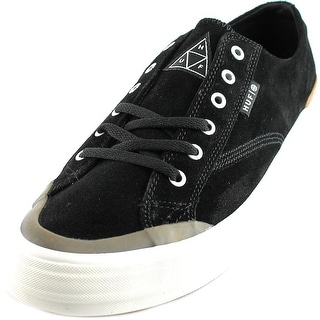 HUF Classic Lo Men Round Toe Suede Black Skate Shoe