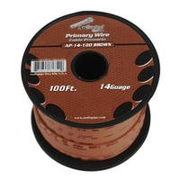 Audiopipe 14 gauge 100ft Brown primary wire