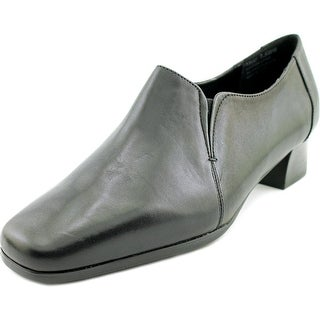 David Tate Sport Women N/S Square Toe Leather Black Loafer