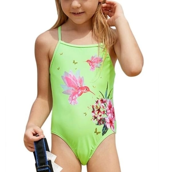 3T Latex Free Red Cotton Swimsuit with Striped Ruffles for Girls 70/% OFF Stock Clearance SALE