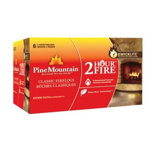 Pine Mountain 41525-01201 2-Hour Traditional Firelog, 6-Pack