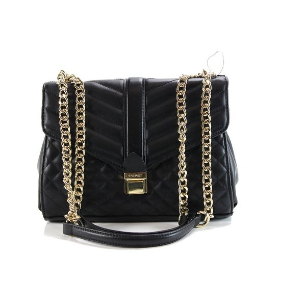 6d2e6ad7a71 Shop Nine West NEW Black Gold Chain Arin Small Shoulder Handbag Purse -  Free Shipping On Orders Over  45 - Overstock - 19795207