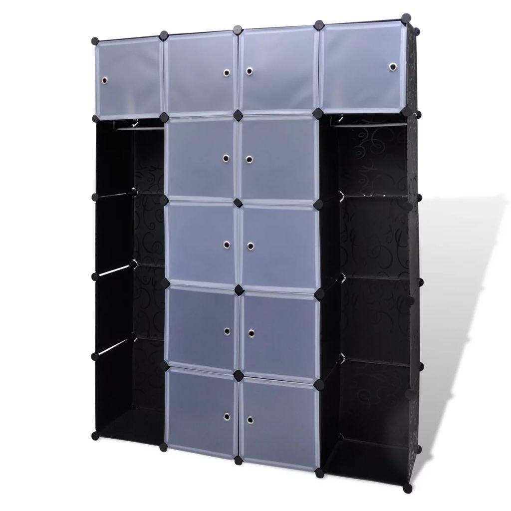 Picture of: New Fashion Diy Plastic 8 Cubed Storage Cabinet Shelf Bathroom Wardrobe Gdng
