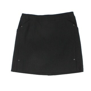 Tribal NEW Deep Black Womens Size 10P Petite Studded Stretch Skort