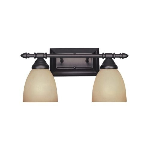 """Designers Fountain 94002 Two Light Down Lighting 15.75"""" Wide Bathroom Fixture from the Apollo Collection"""