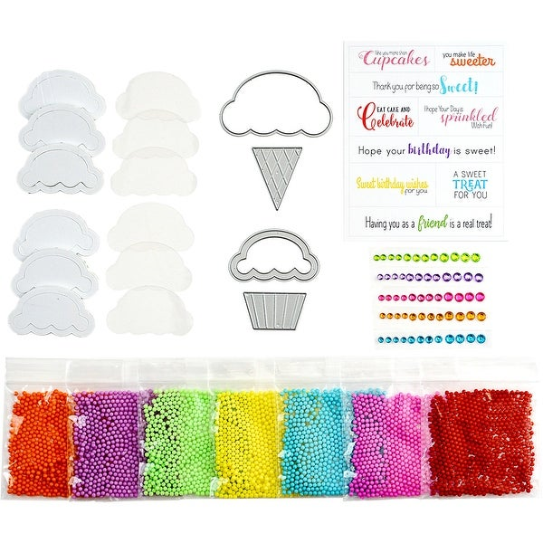 Sweet Treat Shaker Kit For Cards-Ice Cream Cone & Cupcake