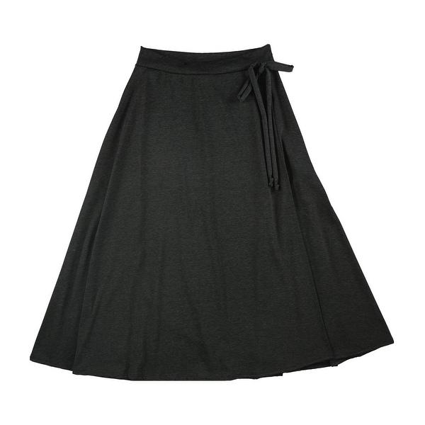 MOA Collection Womens High Waist A-line Skirt, Grey, 1XL. Opens flyout.