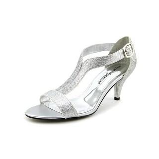 Easy Street Glitz Women W Open-Toe Synthetic Silver Heels