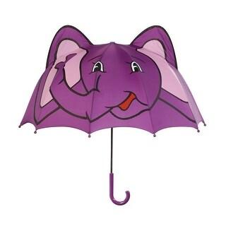 Girls Purple Child Size Lightweight Ears Elephant Umbrella