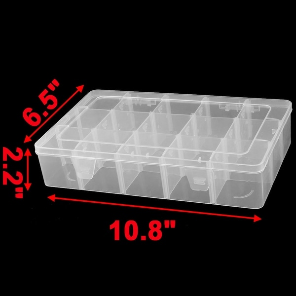 Office Rectangle 8 Compartments Jewelry Beads Hairpin Storage Case Box 2 Pcs