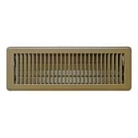 """Truaire C150MB 04X14 Floor Register, 4"""" x 14"""", Brown"""