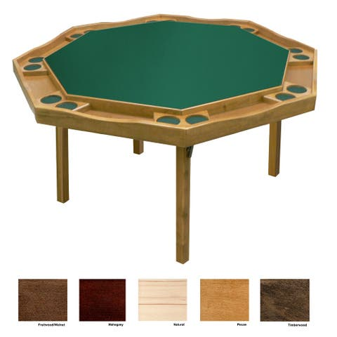 Kestell Maple Period Style Poker Table - Fabric Playing Surface