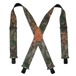 John Deere Men's Realtree Camouflage Clip-End Suspenders
