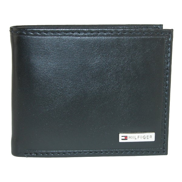 Tommy Hilfiger Men's Leather Fordham Bifold Wallet with Coin Pocket - one size