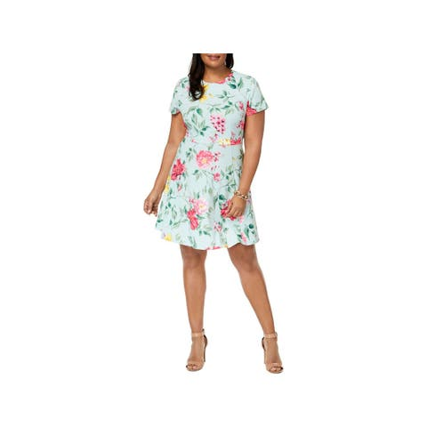 4da56d43be Jessica Howard Womens Plus Party Dress Floral Print Fit   Flare