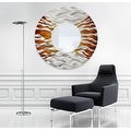 Statements2000 Silver / Brown Metal Decorative Wall-Mounted Mirror by Jon Allen - Mirror 107 - Thumbnail 11