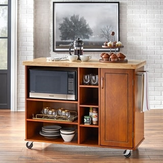 Link to Simple Living Rolling Galvin Microwave Storage Cart Similar Items in Kitchen Carts