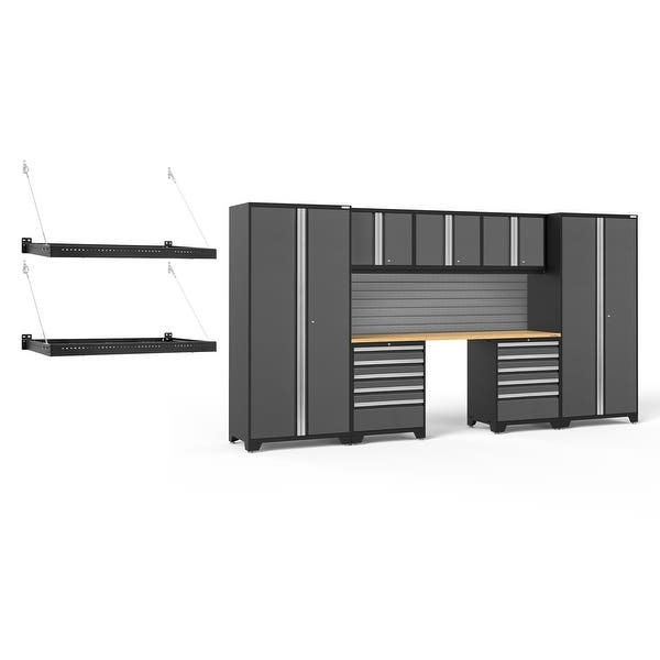 Newage Products Pro Series 3 0 10 Piece Cabinet Set Grey 2 Ft X 4 Ft Wall Mount Shelf Overstock 29072143
